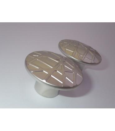 bouton série Cross nickel satiné