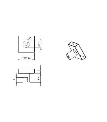 Bouton carré série i.437 technique