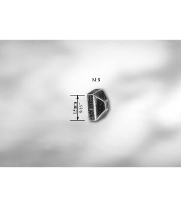ECROU FORGE POINTE DE DIAMANT M8
