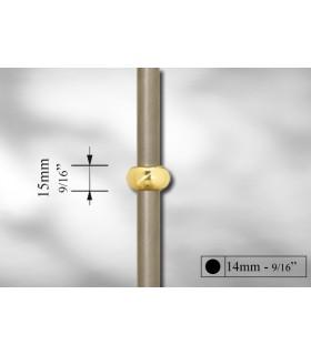 Manchon décoratif laiton poli pour Ø 14 et 16 mm