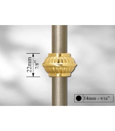 Manchon décoratif laiton poli pour Ø 14 mm, 16 mm et 30 mm