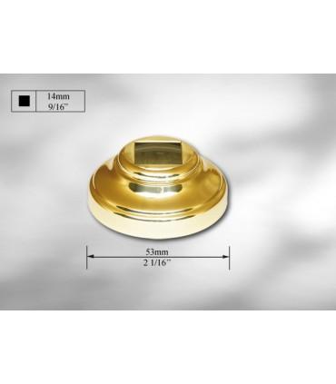 Cache scellement laiton pour barre carrée de 14 mm