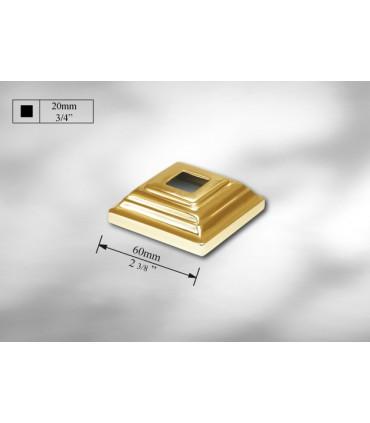 Cache scellement laiton pour barre carrée de 20 mm