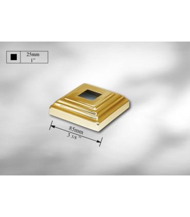Cache scellement laiton pour barre carrée de 25 mm
