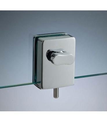 Serrure avec bouton design pour porte en verre