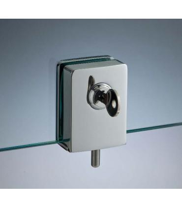 Serrure à clé pour porte en verre sans percage