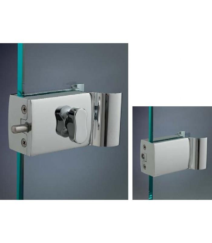 Serrure bouton design avec poign e pour porte en verre - Bouton de porte en verre ...