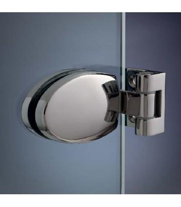 Charnière elliptique 180° pour porte de douche en verre