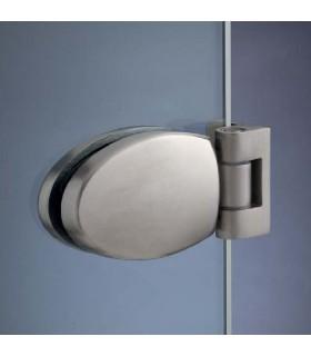Charnière elliptique 90° série 46 pour porte de douche en verre