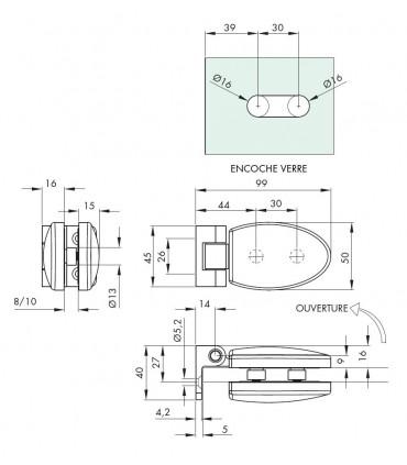 Charnière elliptique technique