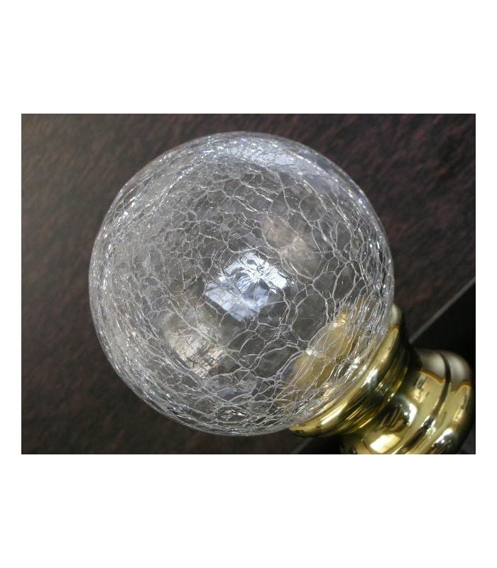 Boule de rampe d'escalier en Cristal aspect craquelé tbl10