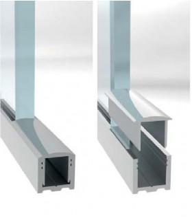 Profil aluminium en U ou capot en lg.de 3 mètres