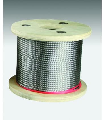 Câble inox 316 souple (7x7) diamètre 4 mm