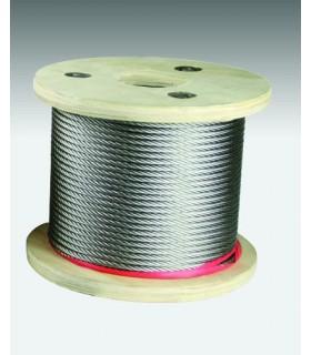 Câble inox 316 souple (7x7) diamètre 6 mm