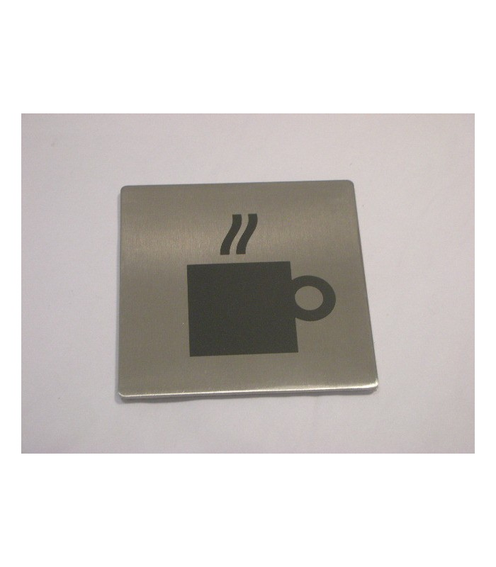 Pictogramme inox 75 x 75 mm café