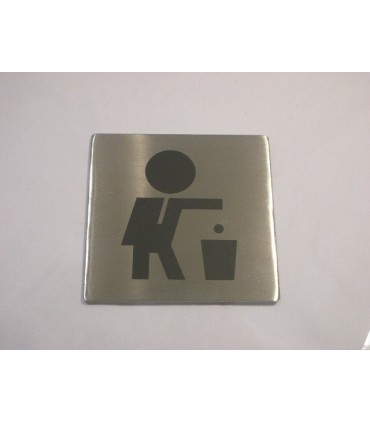 Pictogramme inox 75 x 75 mm respect environement
