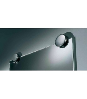 Set de deux supports miroir Ø 60 inox brillant