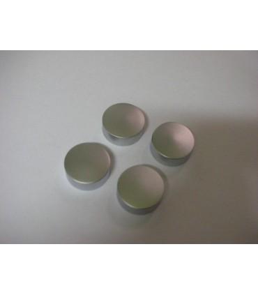 Set de quatre pattes à glace ronde chromé mat
