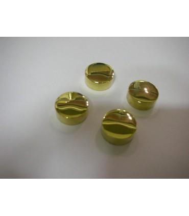 Set de quatre pattes à glace ronde laiton poli