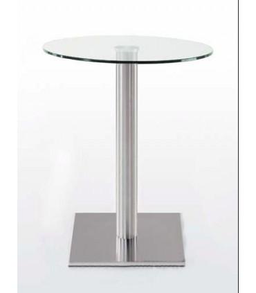 Pied de table central base carrée Ø 450 x 450 mm