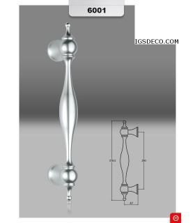 Paire de poignées décoratives en aluminium série 6001