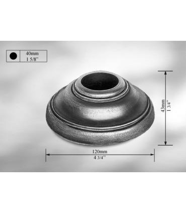 Cache scellement en fonte grise pour Ø 40 mm