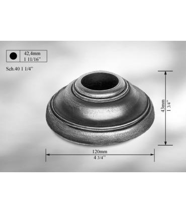Cache scellement en fonte grise pour Ø 42,4 mm