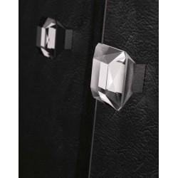 Bouton verre transparent Diamant