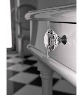 Poignée bouton en verre taillé Cône par Arius Home