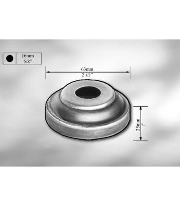 Cache scellement en tôle galvanisée Ø 63 pour Ø 16 mm