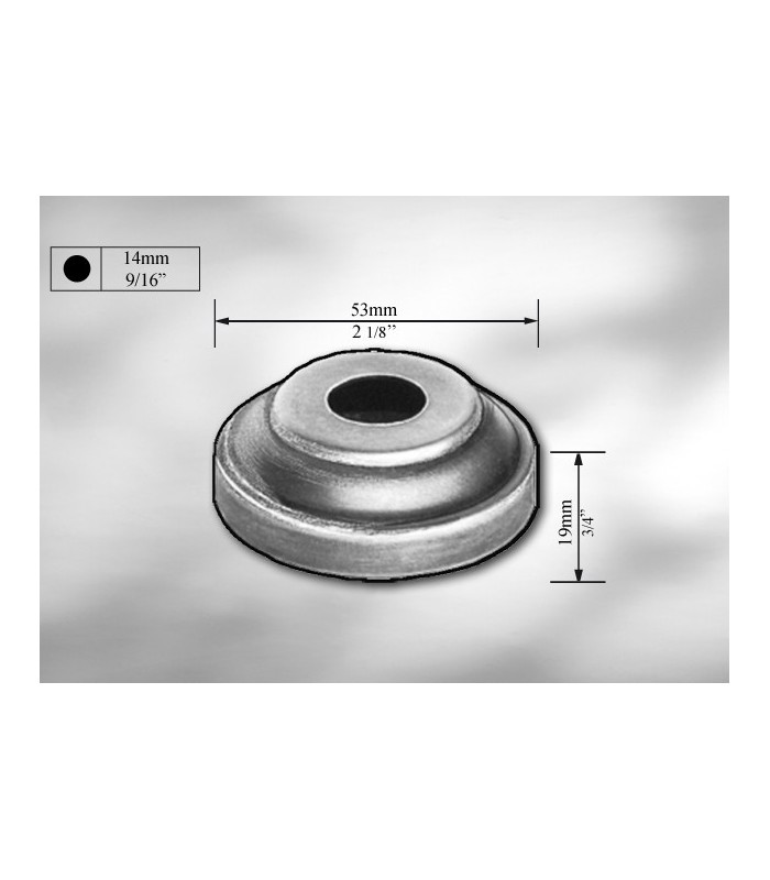 Cache scellement en tôle galvanisée pour Ø 14 mm