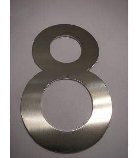 Chiffre Inox 304 ht.150 mm sur adhésif