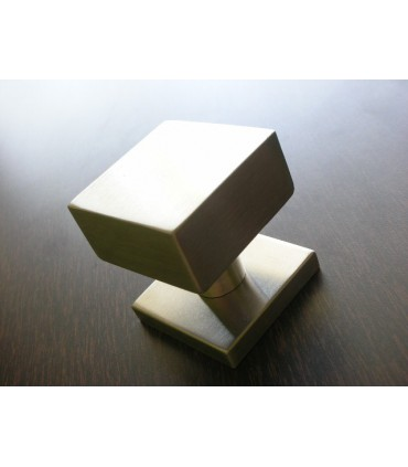 Bouton fixe inox carré de 50 mm