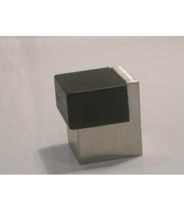 Butée de porte carrée en inox série Duo