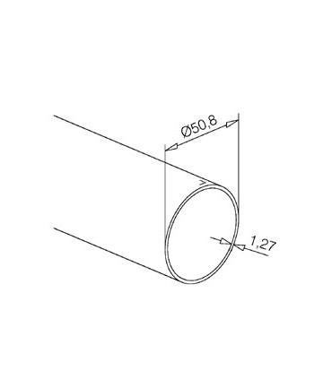 Tube inox diamètre 50.8 mm