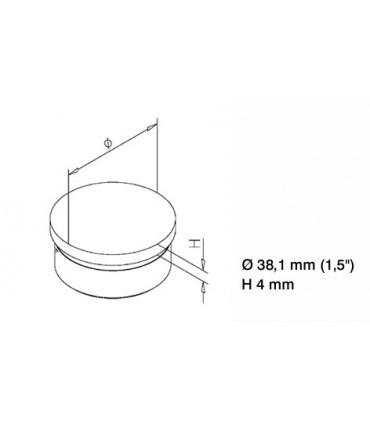 Bouchon plat pour Ø 38.1 mm