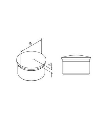 Bouchon bombé pour Ø 38.1 mm