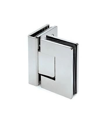 Charnière 90° verre sur verre pour porte de douche