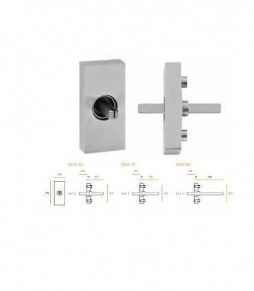 Mécanisme rectangulaire pour montage avec poignées série JSR de fenêtre