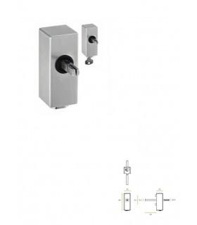 Mécanisme rectangulaire pour fenêtre avec fermeture a clé