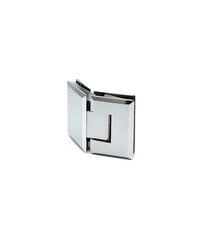 Charnière 135° poli brillant verre / verre