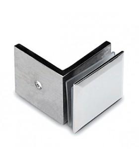Equerre de fixation carrée pour verre sur mur à 90°