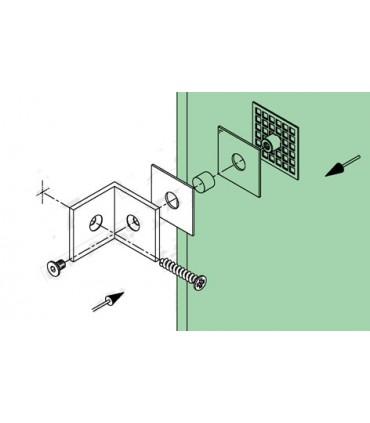 Fixation mur / verre 90°