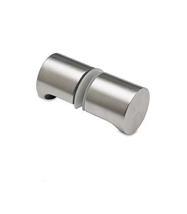 Paire de poignée bouton en inox forme ronde avec encoche