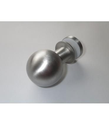 Poignée bouton sphère en inox brossé