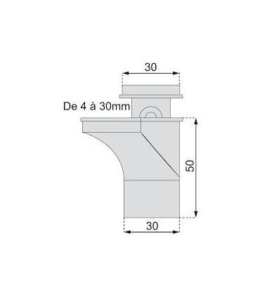 Support d'étagère série 533 par Mafos technique