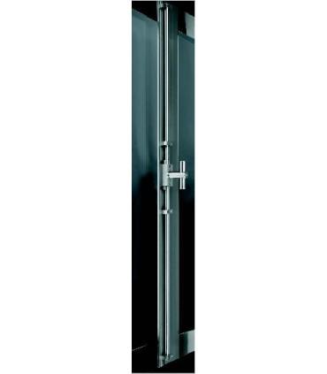 Crémone de porte ou fenêtre avec tringle ronde