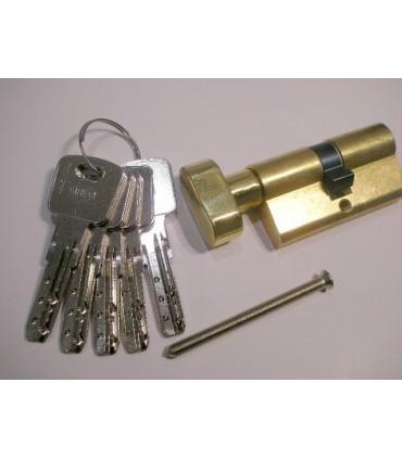 Cylindre européen clé et bouton laiton