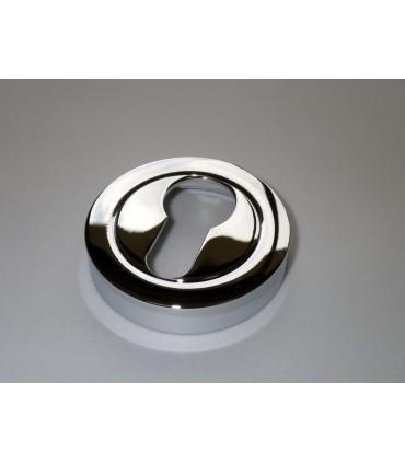 Rosace ronde pour entrée de clé I chromé brillant