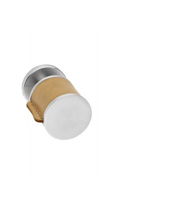 Poignée bouton fixe en cuir naturel série Skin